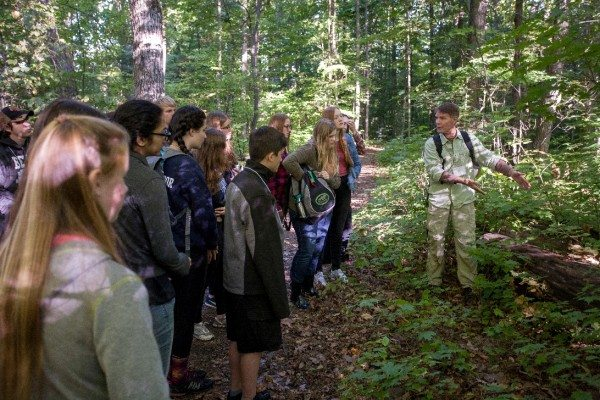 Youth council on a nature hike