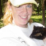 Tanya Pulfer with an American marten