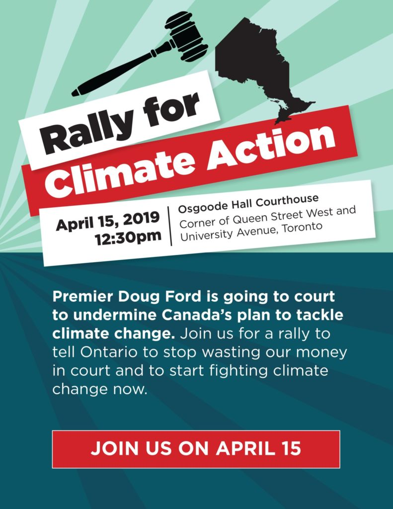 Rally for Climate Action poster