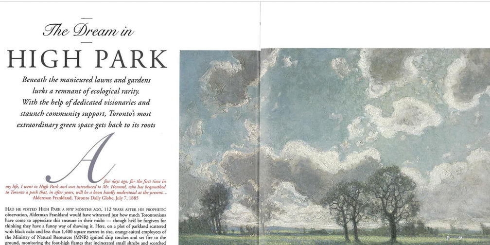 The Dream in High Park magazine article