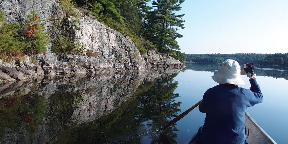 Canoeing in Lost Bay
