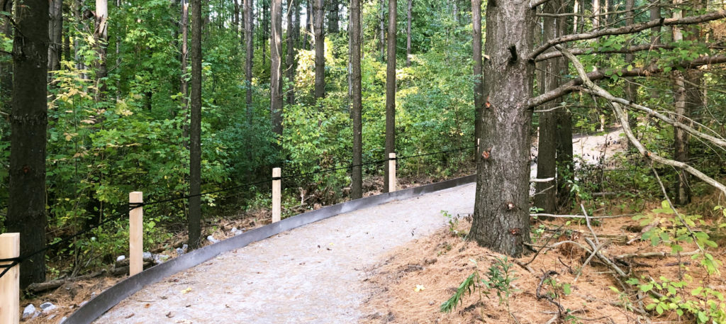 Accessible trail at Cawthra Mulock Nature Reserve