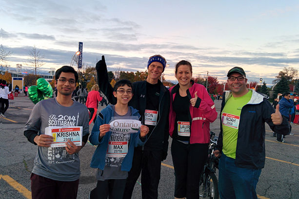 Team Ontario Nature at the Scotiabank Waterfront Marathon