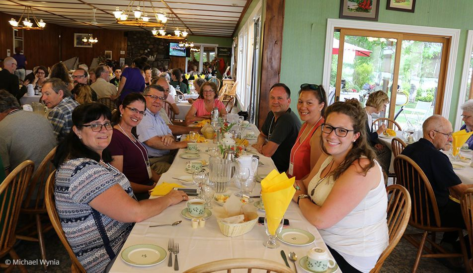 Evergreen Resort dining hall, 85th Annual Gathering