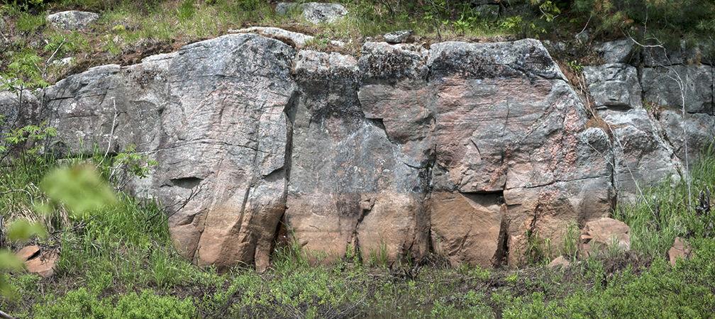 Matchedash Lake area rock faces
