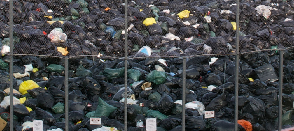 Piles of waste at Ontario  dump site