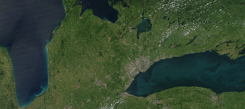 Ontario landscape from NASA Goddard Earth Observatory