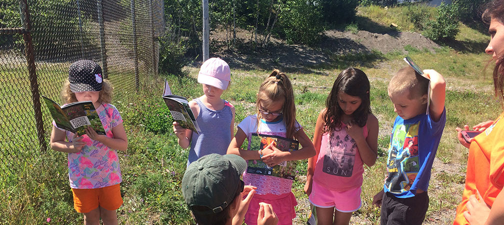 Children learning about nature and enjoying the outdoors at Schrieber Summer Camp