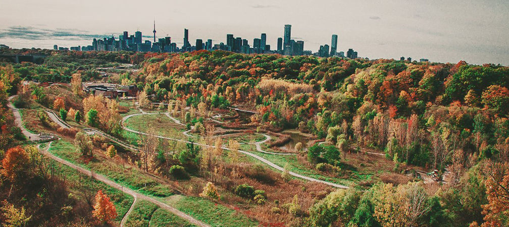 Evergreen Brickworks trails in Toronto