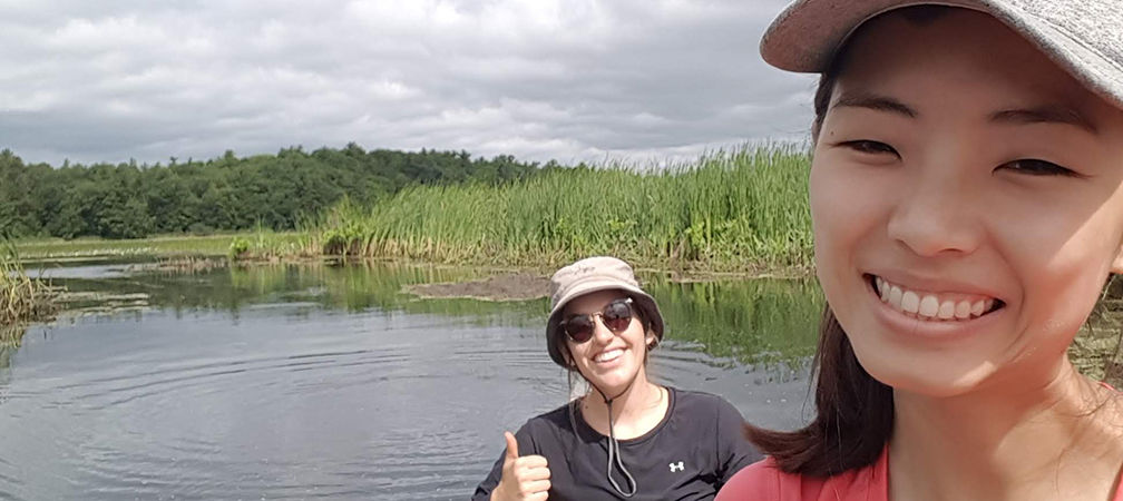 Our field team even conducted a vegetation survey by canoe to characterize open water wetland habitat!