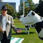 Bryan Smith with a cow