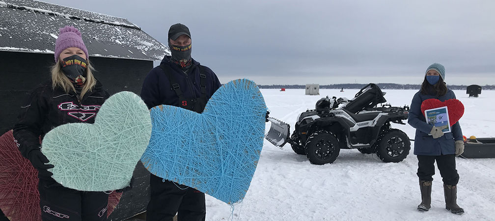 Rescue Lake Simcoe supporters and ice fishing huts