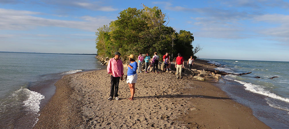 Point Pelee visitors at the Tip