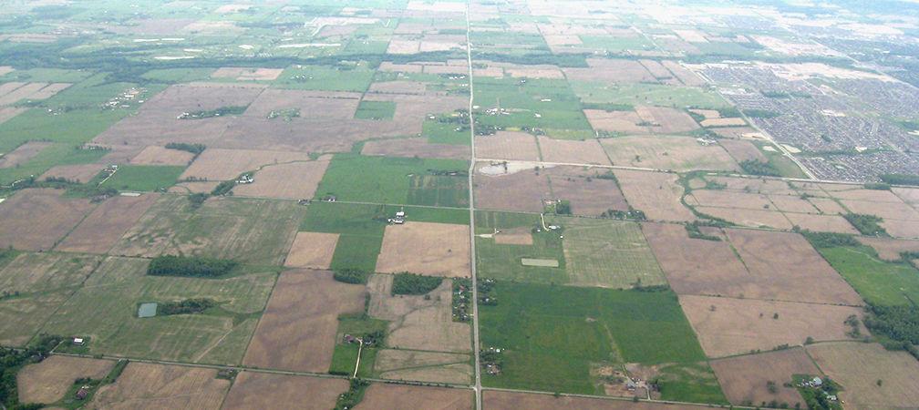 Habitat fragmentation, agricultural and rural habitat fragmentation southern Ontario