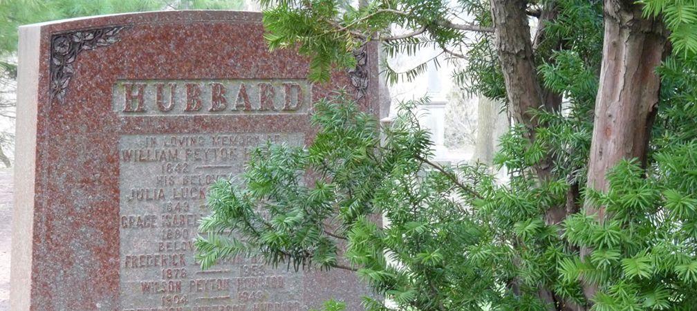 William Peyton Hubbard gravestone, Necropolis Cemetary