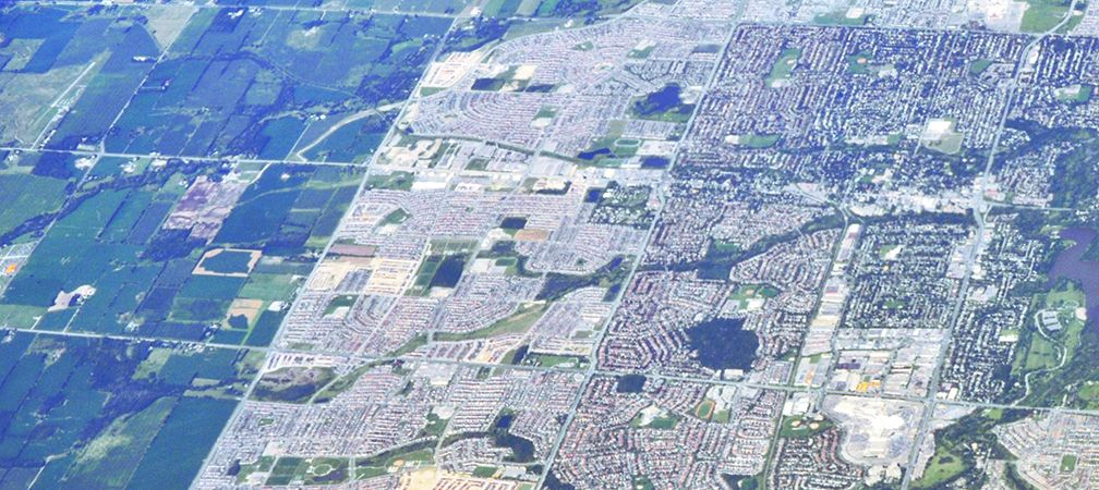 Urban sprawl, Markham
