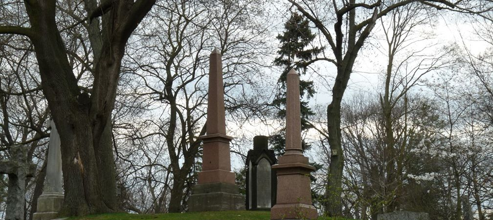 Grave obelisks, Necropolis Cemetary