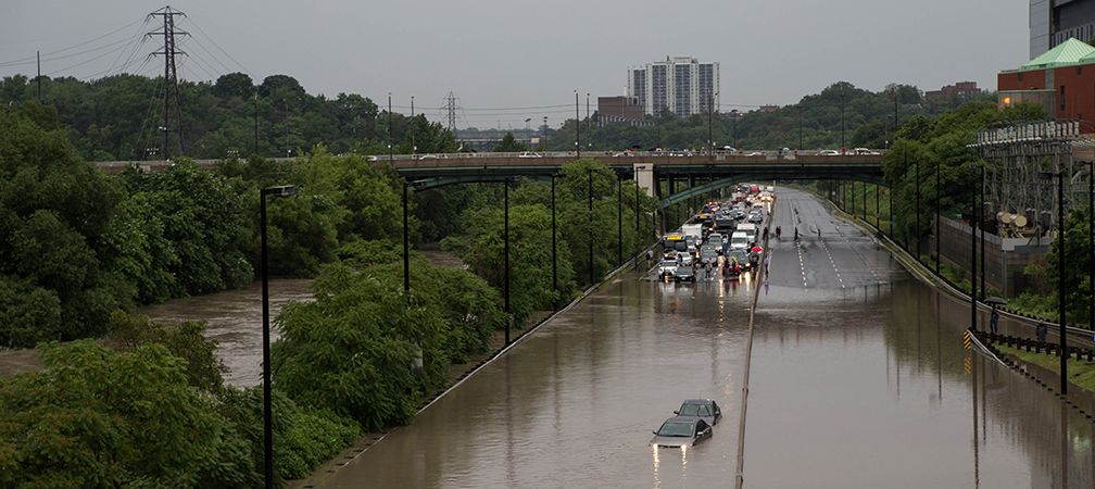 Flooding along the Don Valley Parkway, Toronto