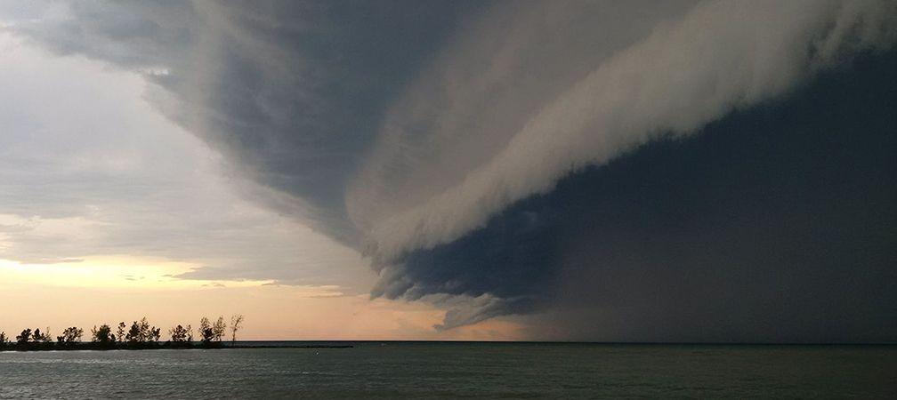 Intense storm, Lake Huron