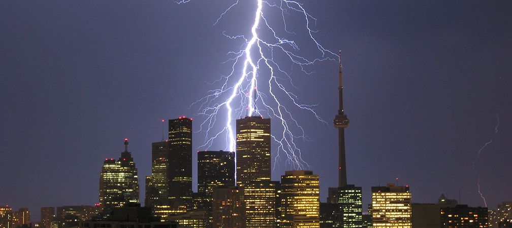 Lightning bolts hit Toronto